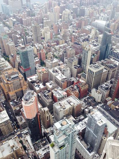 Heights vertigo Empire State skyscraper New York skyline  photo