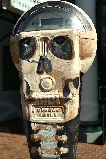 skeleton parking meter photo