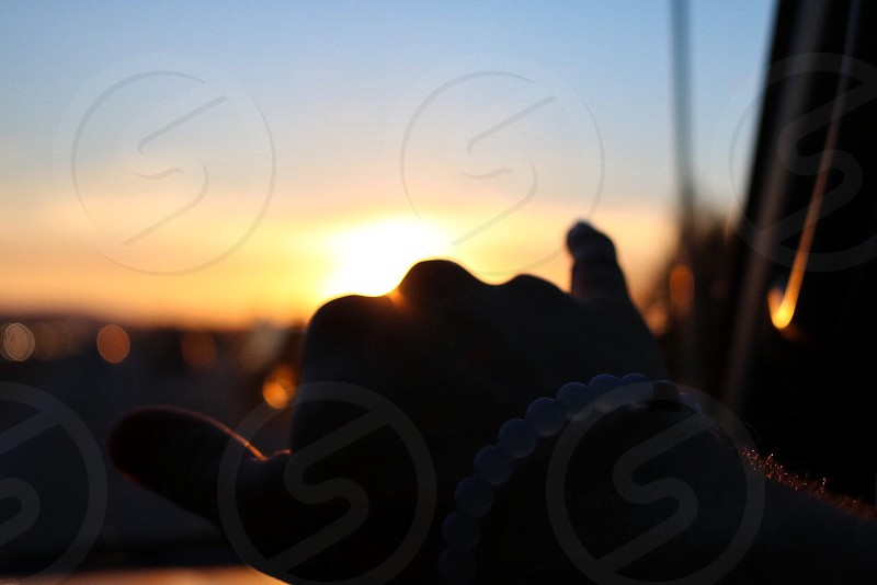 Sunset sun shaka Lokai bracelet adventure horizon beautiful road trip warm warmth fall autumn happiness happy photo