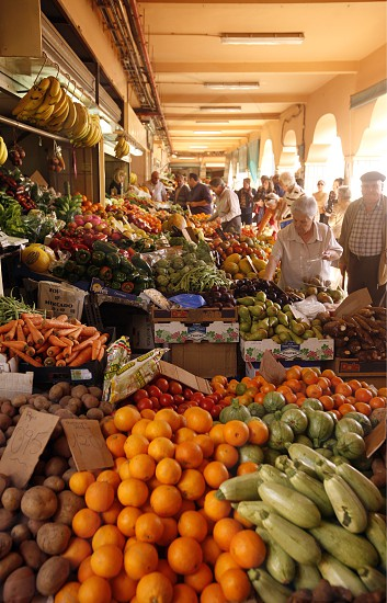 The Market Hall of the City of Santa Cruz on the Island of Tenerife on the Islands of Canary Islands of Spain in the Atlantic.   photo