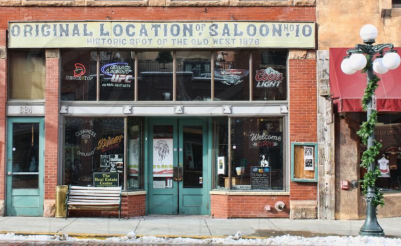 Store and restaurant in a western town photo