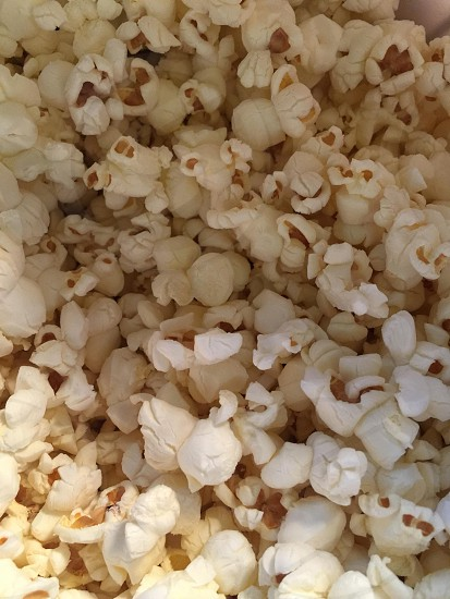 Freshly popped popcorn. Ready for a movie? photo