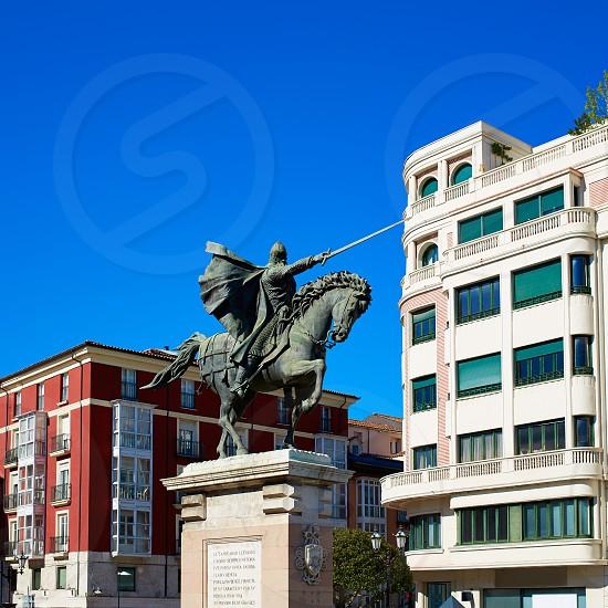 Burgos Cid Campeador statue in Castilla Leon of Spain photo