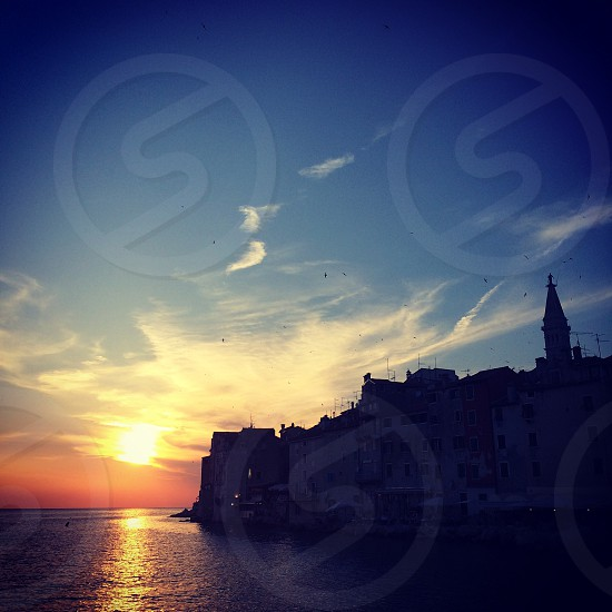Sunset over Rovinj Croatia  photo