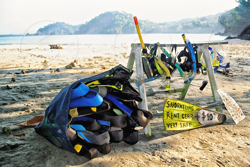 dive gear at the beach photo