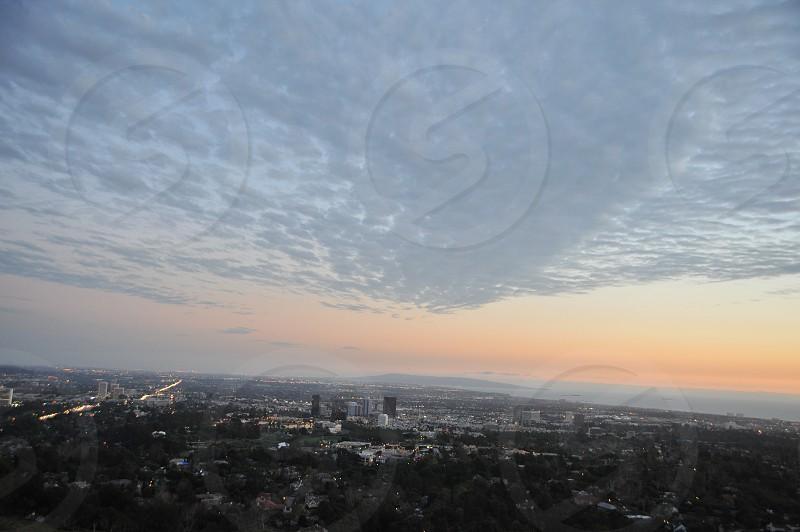 Los Angeles Cityscape Sunset photo