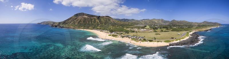 Diamond Head Hawaii O'ahuWaikiki volcano beach tropical paradise photo