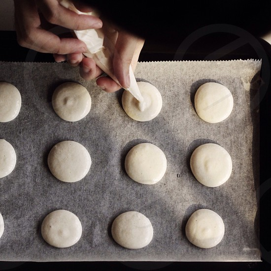 Baking macarons photo