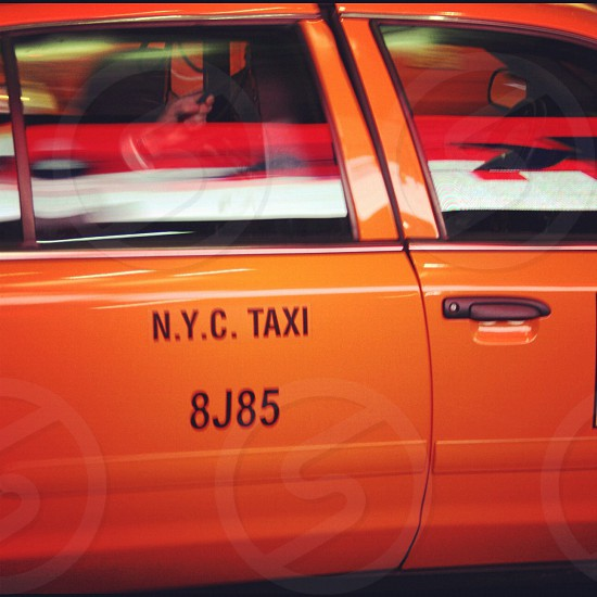 orange NYC taxi 8j85 photo
