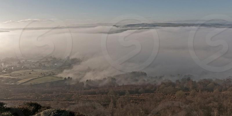 Foggy fogmistmisty countrysidehillsDerbyshiretrees photo