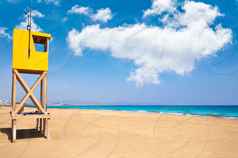 Jandia Sotavento beach Fuerteventura at Canary Islands playa Barca photo