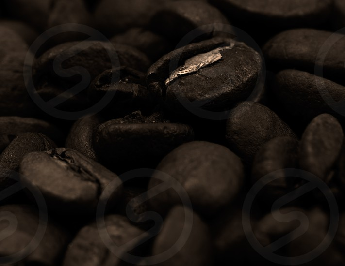 Very warm picture of coffee beans background color corrected as old photo in beautiful sepia style. photo