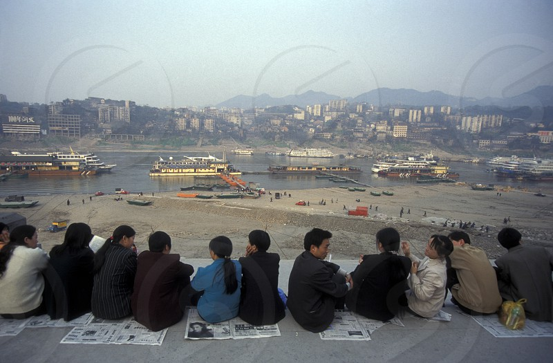 the yangzee River in the city of Chongqing in the province of Sichuan in china in east asia.  photo