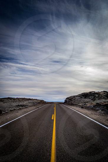 highway through desert photo