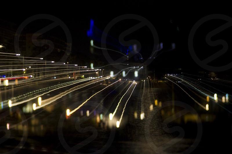 Nice night city France photo