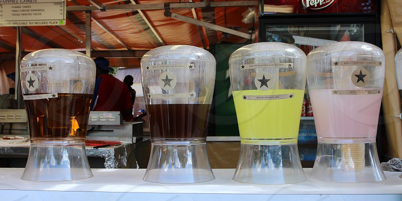 Tea and lemonade stations  state fair food photo