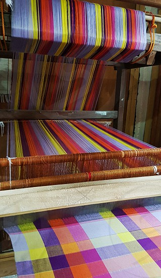 hand-weaved textile in philippines photo
