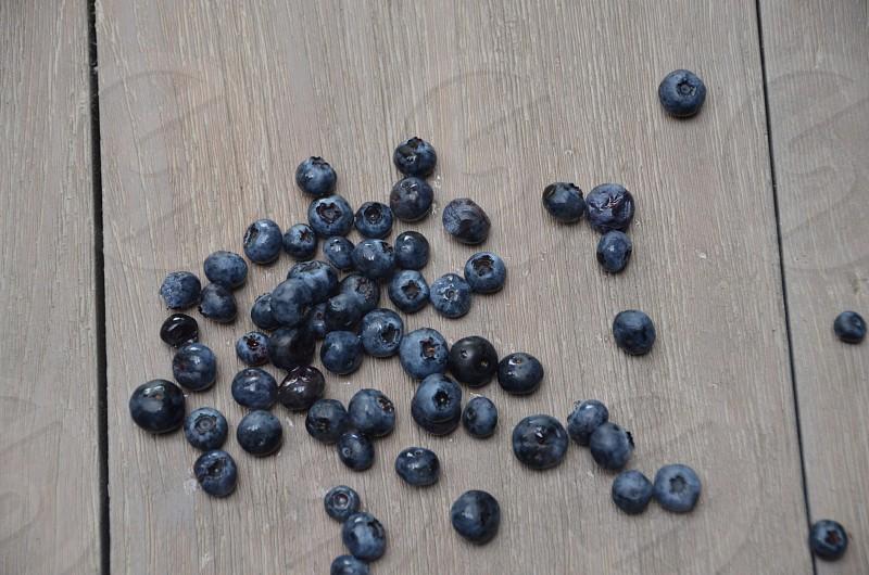 black berries on floor  photo