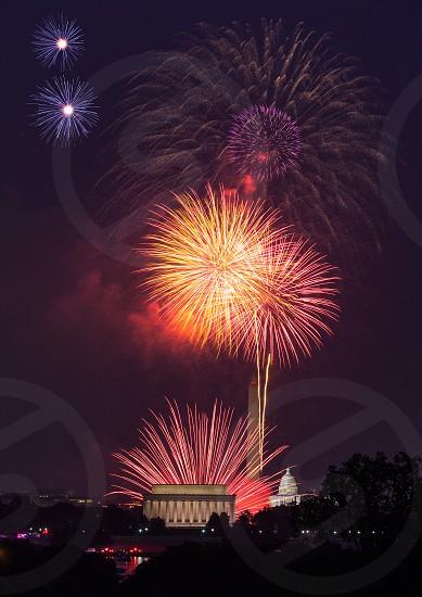 Fireworks over Washington DC on 4th July photo