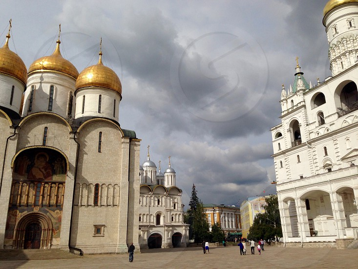 Cathedrals in Moscow Kremlin photo