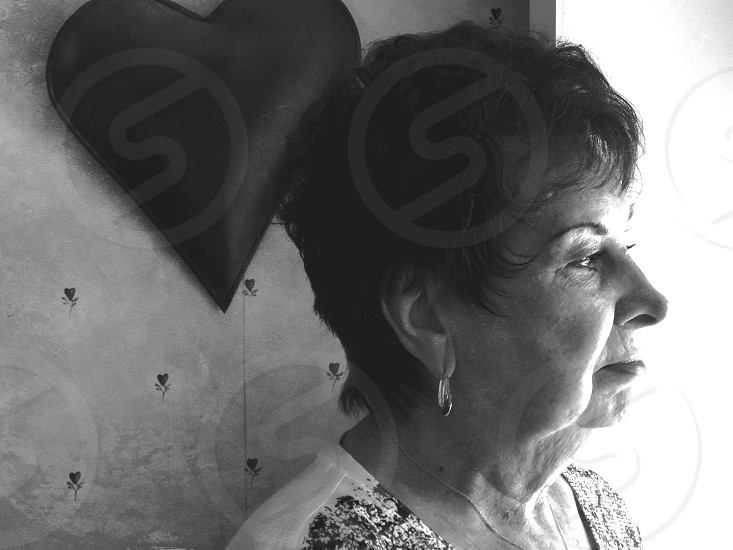 black and white grandmother hope deep though loss death dealing with death struggle emotion photo