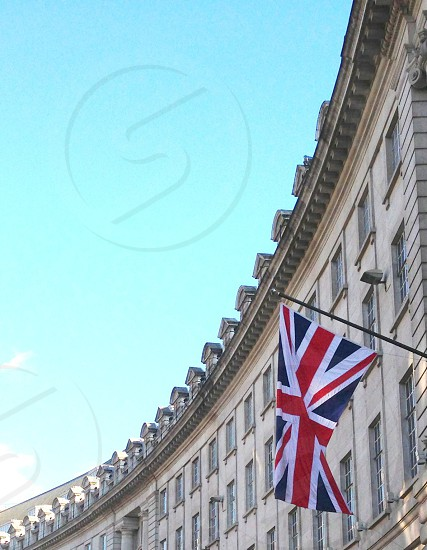 Travel journey destination London Union Jack flag photo