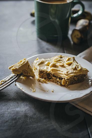Peanut Butter & Banana Blondies photo