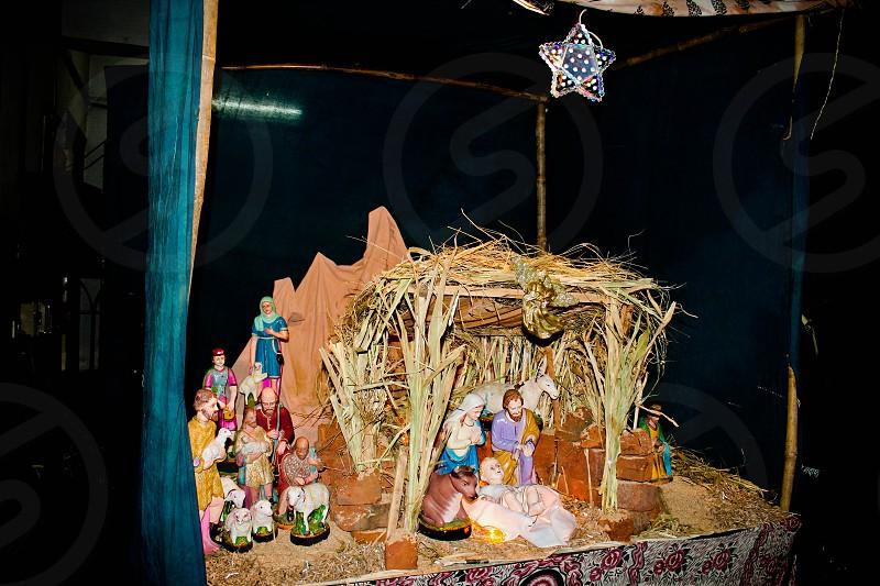 Christmas crib at a Church in India church India nativity scene photo