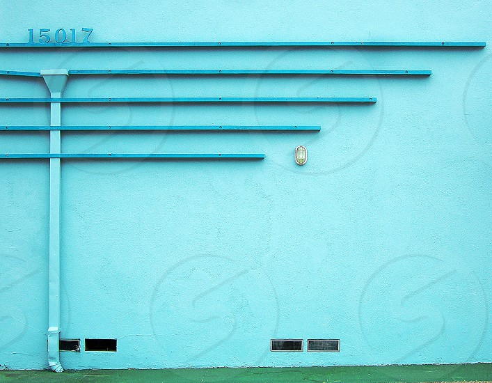 Deco style aqua wall . photo