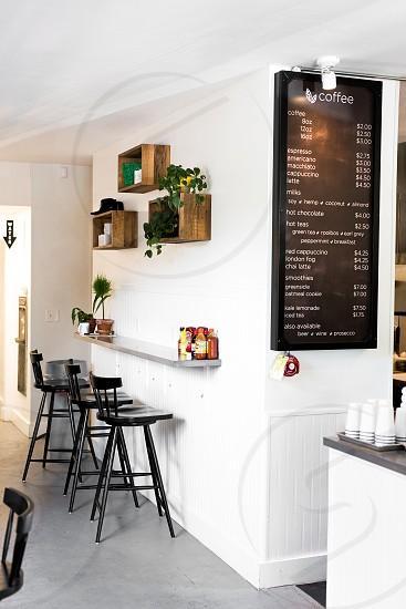 Gnome Cafe interior. Bright and inviting. photo