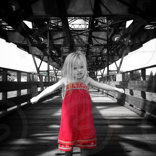 Little red girl photo