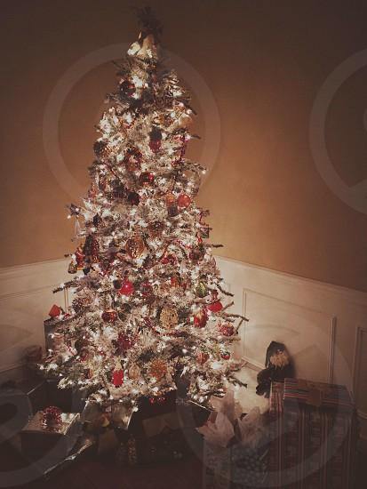 Flocked Christmas Tree photo