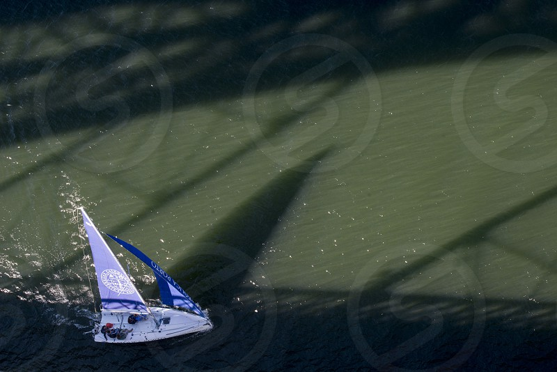 a boat on the Douro River in Ribeira in the city centre of Porto in Porugal in Europe. photo