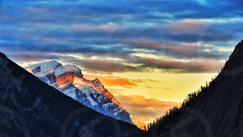 Rockies Jasper Canada Canadian Rockies National Park Pyramid Lake outdoor adventures mountains mountaineering mountain photography Icefields Parkway sunset on the road Banff photo
