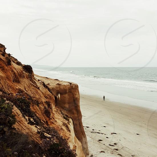 View of the coast near Encinitas CA.  photo
