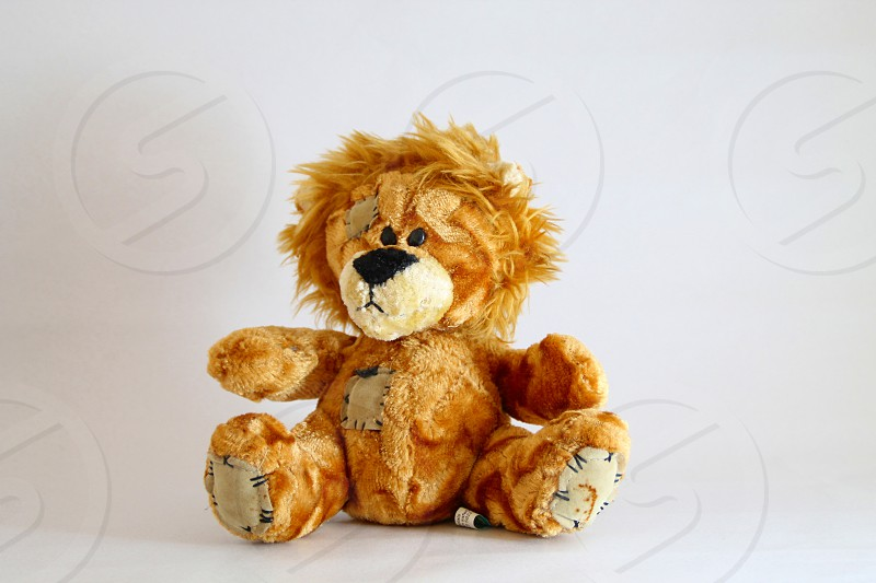 A small ginger teddy bear soft toy photo