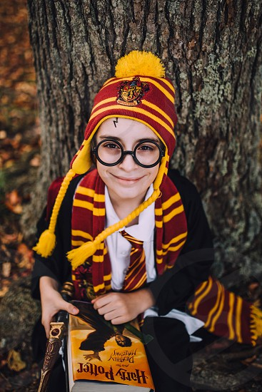 Harry Potter Halloween costume book dress up photo