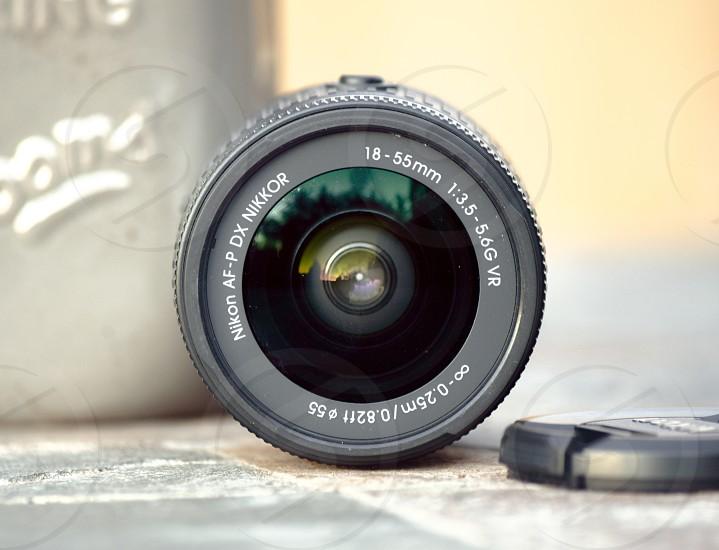 A long exposure photo of a Nikon 18-55mm lens photo