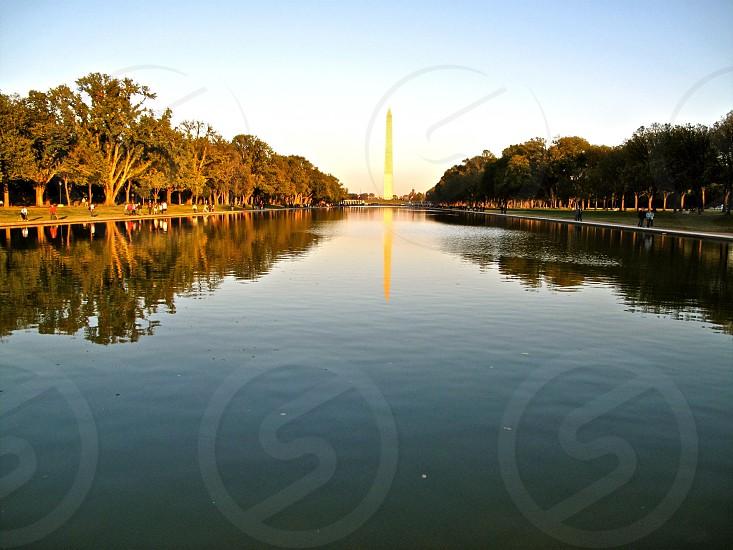 Washington DC monument reflection  photo