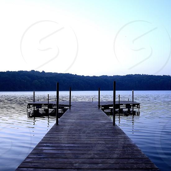Jetty boat pier lake landscape outdoors photo