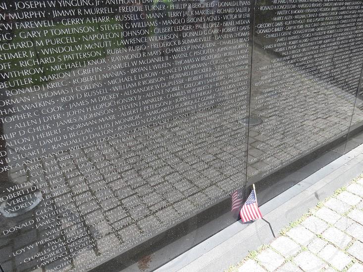 United States Flag - Vietnam Veterans Memorial Washington DC photo