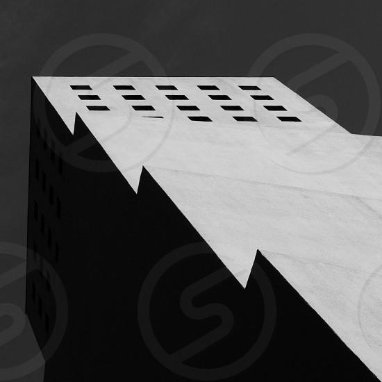 Zig-zag building edges. photo