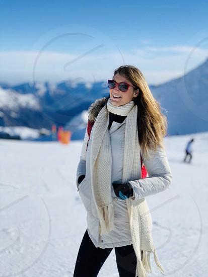 Me mountain Hair happy d'un smile star ski snow  photo