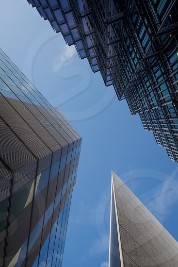 Skies skyscraper triangle building photo