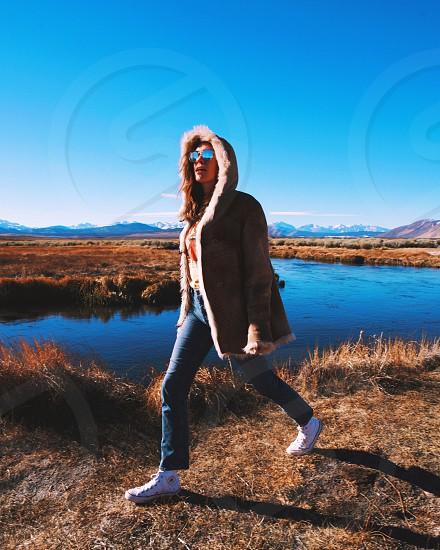 Woman fashion nature  photo