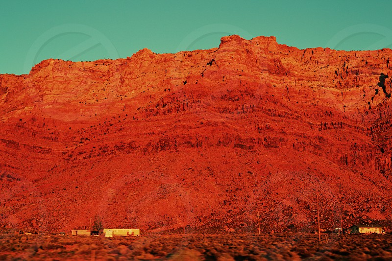 Utah Red Mountains Little House Sundown photo