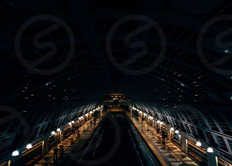 train station areal view photo