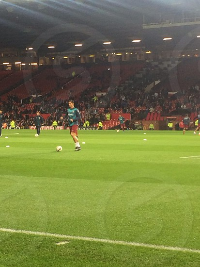 Cristiano Ronaldo practicing before the game against Argentina at Old Trafford 18/11/2014 photo