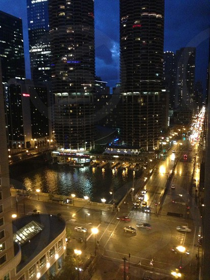 #chicago #downtown #lights #streets  photo