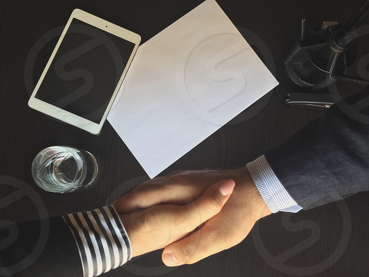 Shaking hands photo